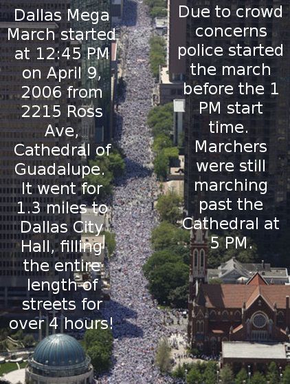 Image result for MEGA BUST: Pro-Illegal Alien 'Mega March 2017' in Dallas a Mega Dud; Less Than One Percent of 2006 March