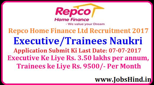 Repco Home Finance Recruitment 2017