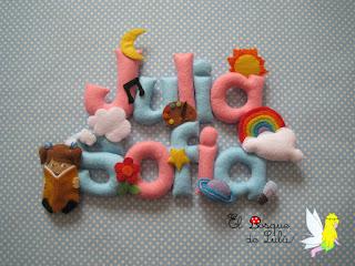 nombre-fieltro-felt-feltro-Julia-Sofia-elbosquedelulu-hechoamanoparati-personalizado-regalo-nacimiento-babyroom-name-banner