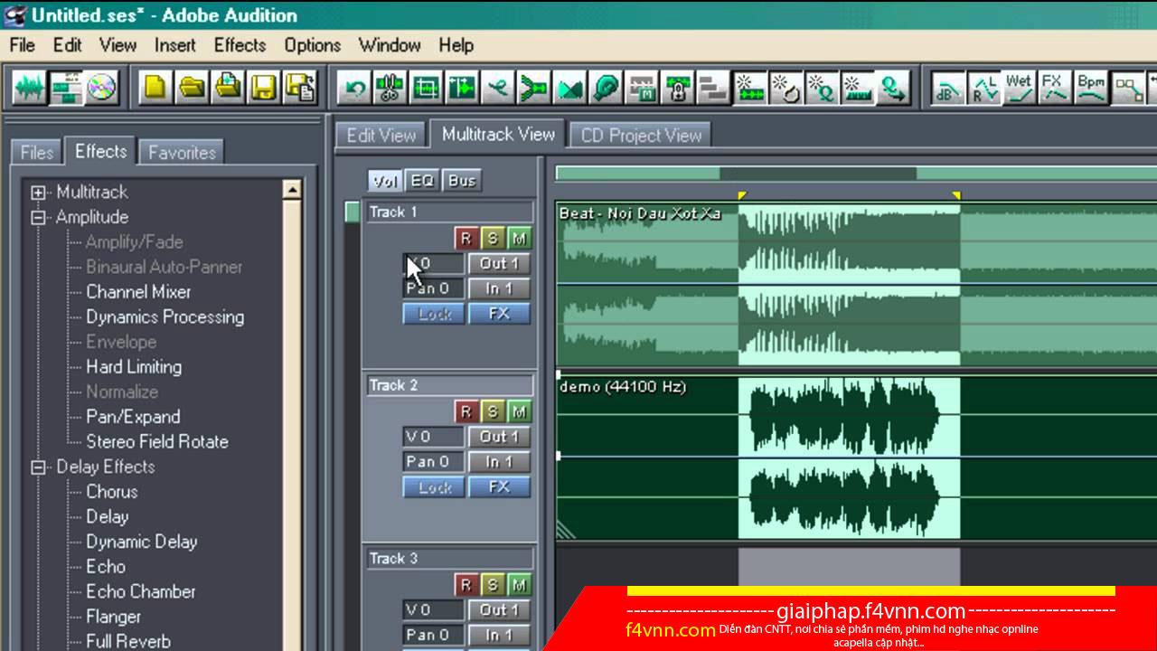 Adobe Audition Full - Tách Acapella đơn giản và tốt nhất - Link Siêu Tốc