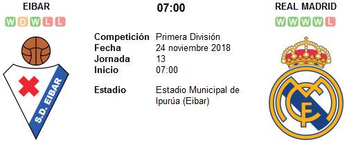 Eibar vs Real Madrid en VIVO