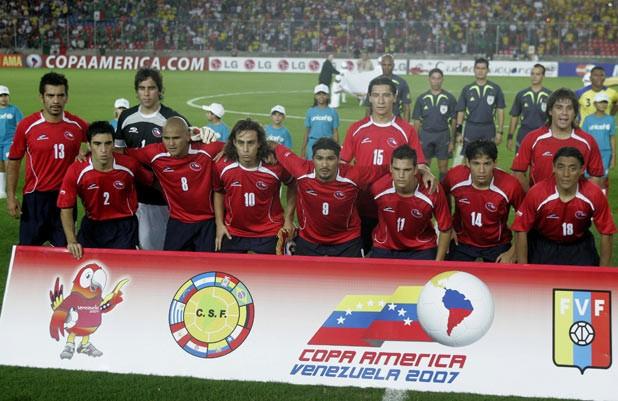 Formación de Chile ante Ecuador, Copa América 2007, 27 de junio