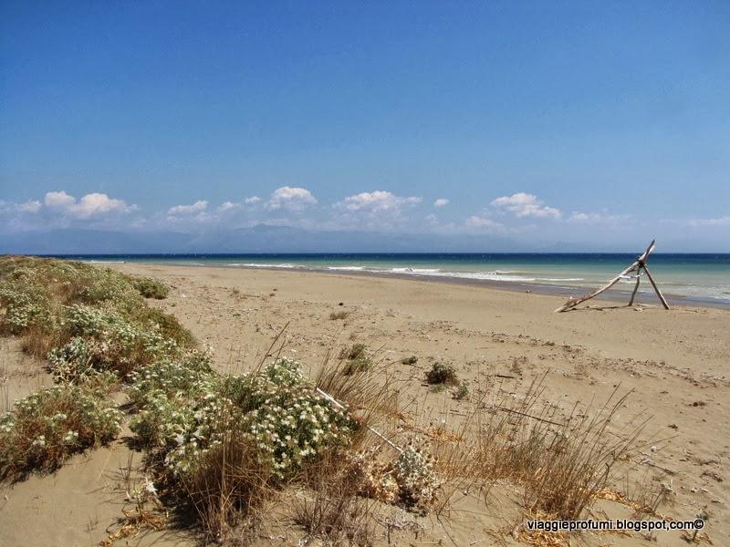 La spiaggia di Brakini a Erikoussa, isole Diapontie