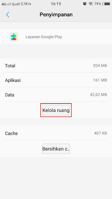 Cara Hapus Data Google Play