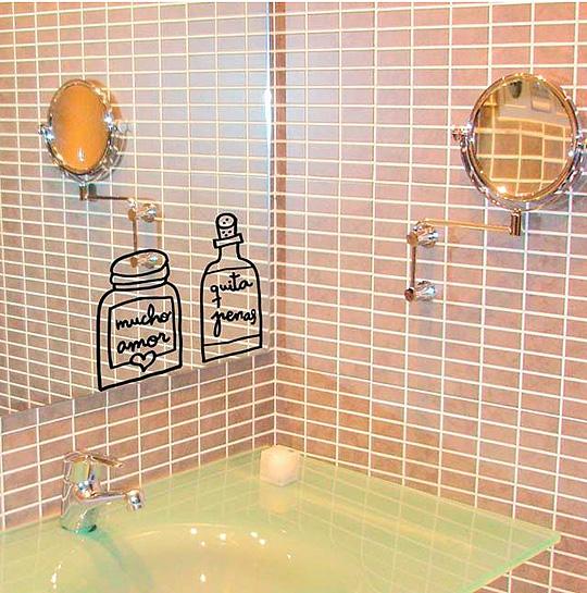 Vinilo para espejo del baño