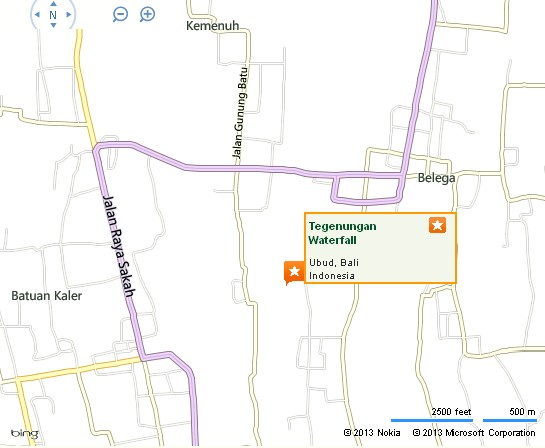 Tegenungan Waterfall Ubud Location Map,Location Map of Tegenungan Waterfall Ubud,Tegenungan Waterfall Ubud Accommodation Destinations Attractions Hotels Map Photos Pictures