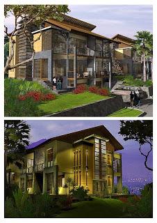 contoh model rumah 2 lantai terbaru | desain rumah | tipe