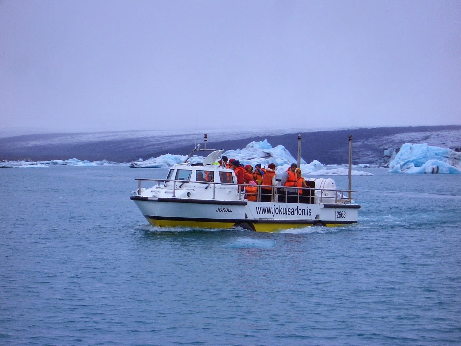 Islandia, lago de icebergs