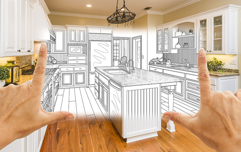 kitchen renovation sketch