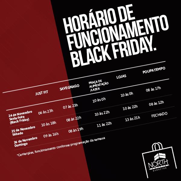 Black Friday promete descontos de até 70% nas lojas do North Shopping Barretos