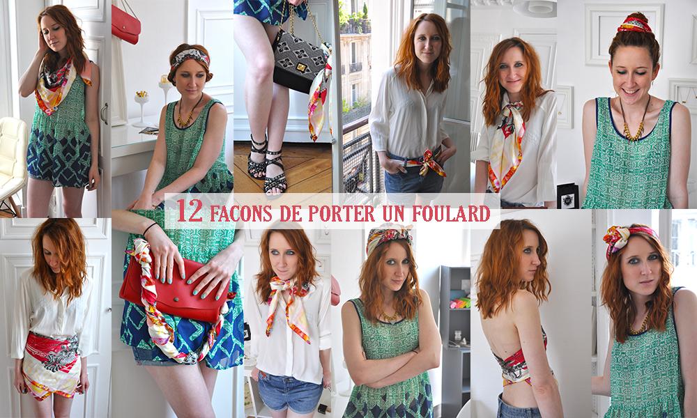 réduction jusqu'à 60% achat original achat original 12 façons de porter un foulard - Slanelle Style - Blog mode ...