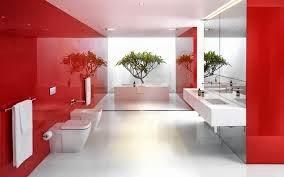cuarto de baño rojo y blanco