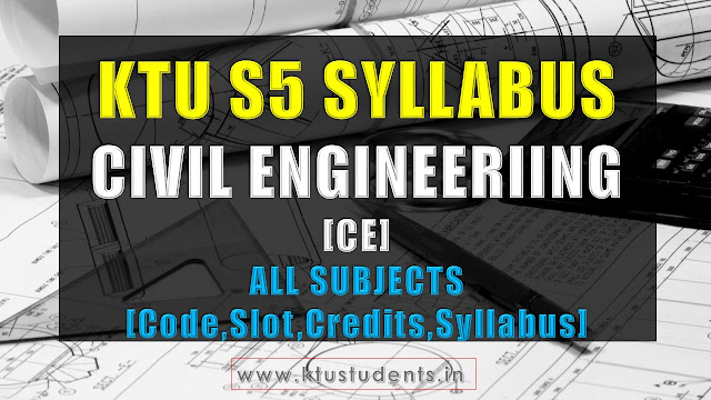 ktu civil engineering s5 syllabus