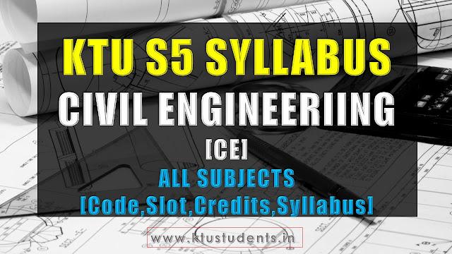 ktu civil engineering s5 syllabus