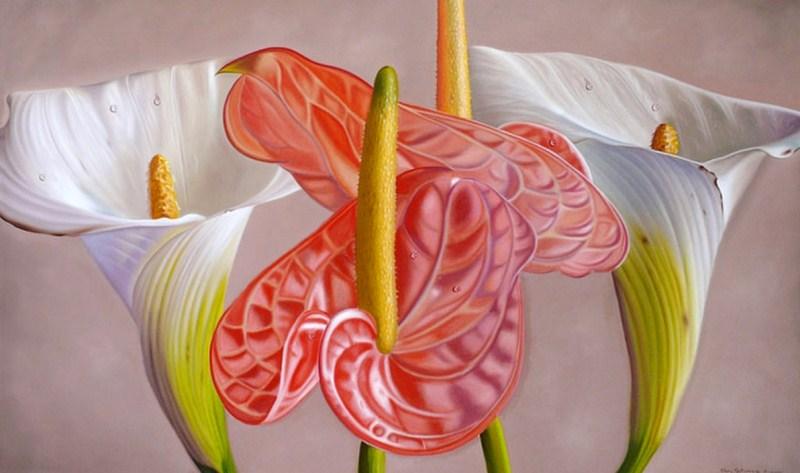 bodegones con hermosas flores pintadas en leo pinturas al leo de flores cuadros con flores al leo sobre lienzo cuadro moderno con flores