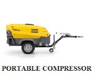 Portable Air Compressor, Atlas Copco