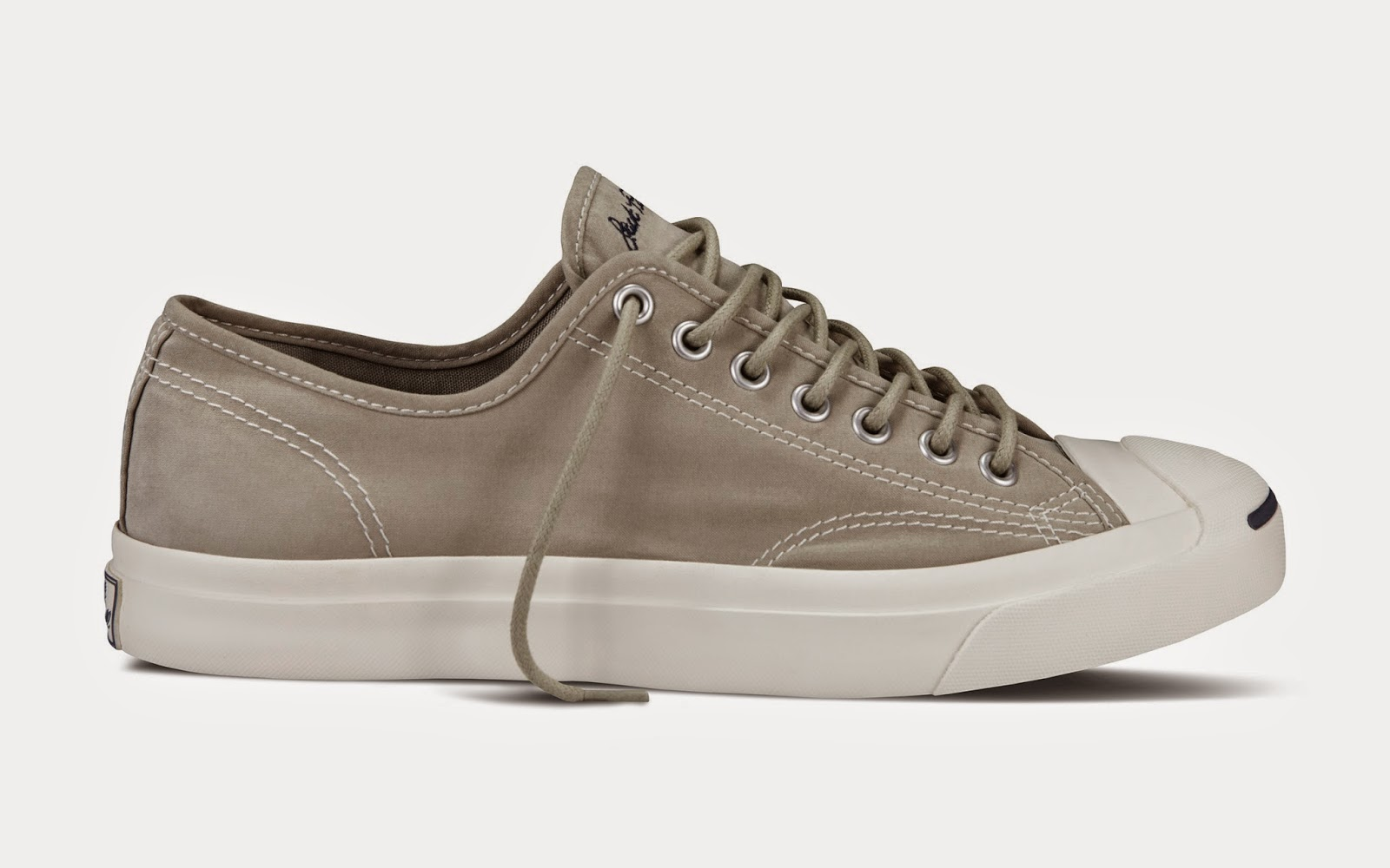 fc0316a62ec6 The Converse Jack Purcell Ox features a brushed textile upper with a tight