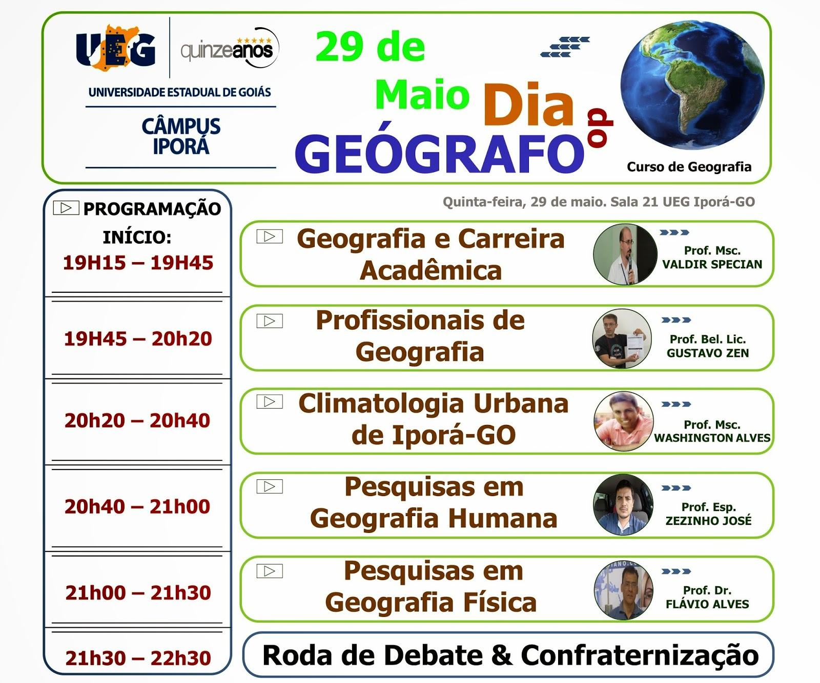 Geografia Iporá Professores Do Curso De Geografia Falam