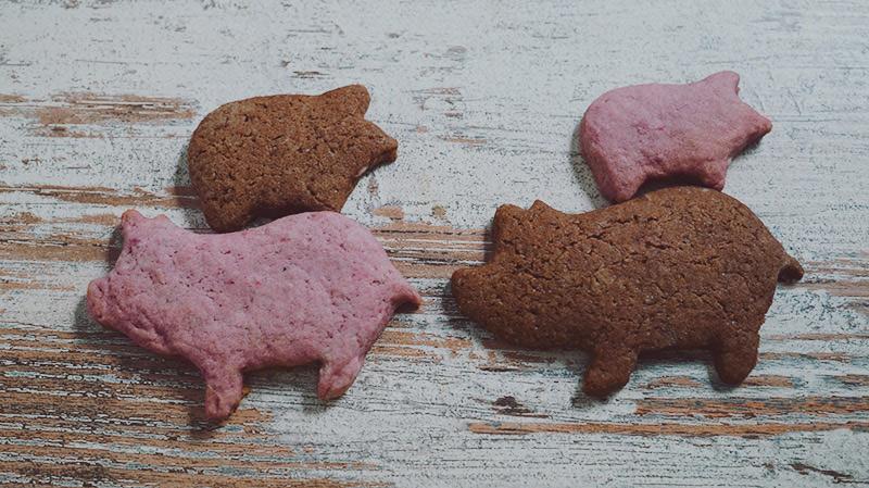 KuneCoco • Rezept • Himbeer-Schoko-Kekse • Schweinchen