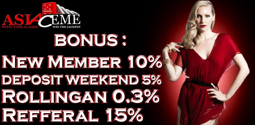 Free Chip Bonus Weekend 5% (sabtu & minggu) Asiaceme.com Poker Uang Asli ASIA%2BCEME%2B1