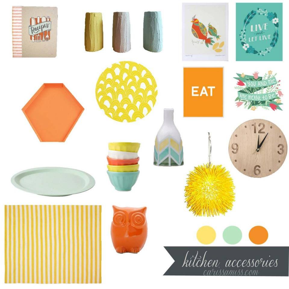 For Kitchen Accessories Designer In Teal Tangerine Hues Design Collaboration