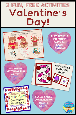 3 fun, free games for Valentine's Day at Looks Like Language!