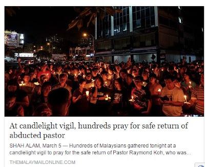 Ratusan Berhimpun Doakan Keselamatan Pastor Raymond
