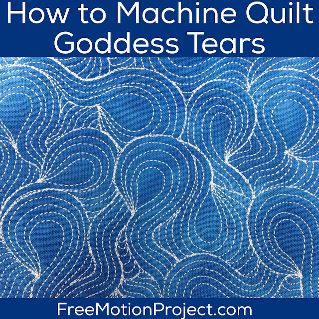 Learn how to machine quilt Goddess Tears in a free video tutorial created by Leah Day