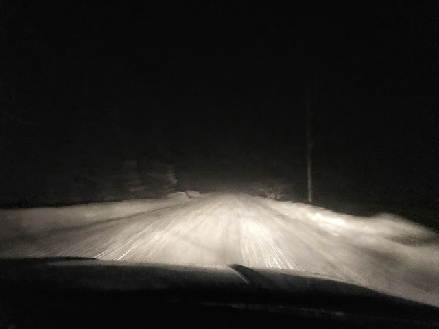 scary ride home from Bangor, Maine last night. this is I-95