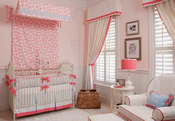 Dormitorios color rosa para beb s dormitorios colores y - Color pared habitacion bebe ...