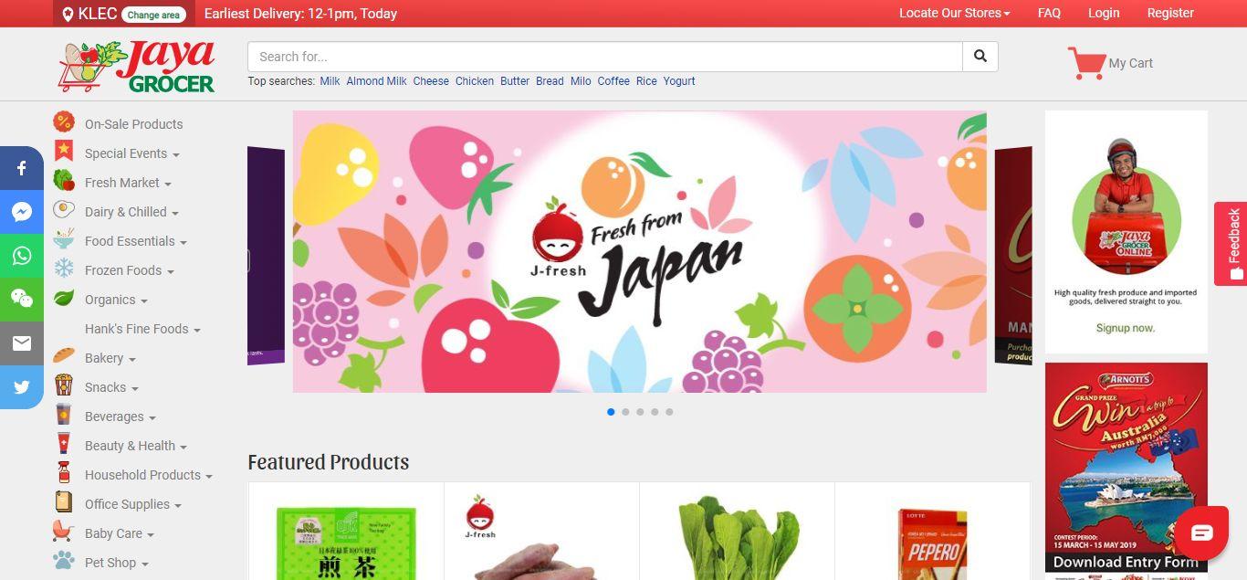 Jaya Grocer e-commerce