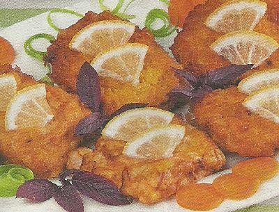 Состав продуктов и способ приготовления рыбных квадратиков в кляре