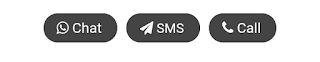 cara membuat tombol link whatsapp, SMS, dan Telepon langsung ke Admin Blog