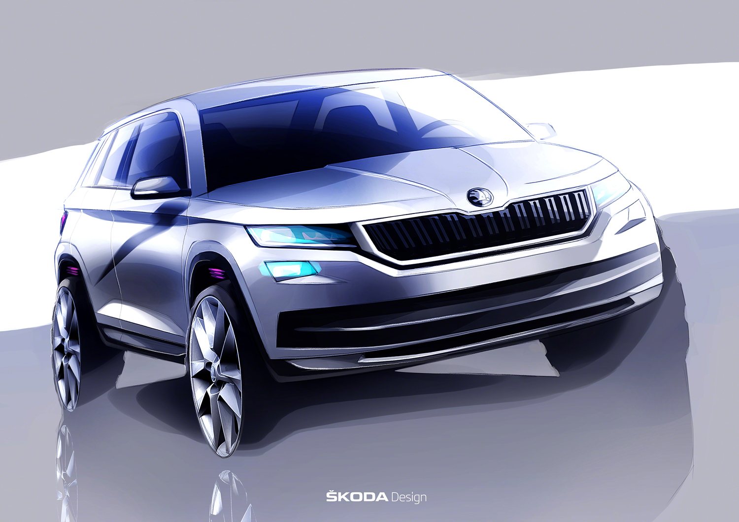skoda previews new kodiaq suv carscoops. Black Bedroom Furniture Sets. Home Design Ideas