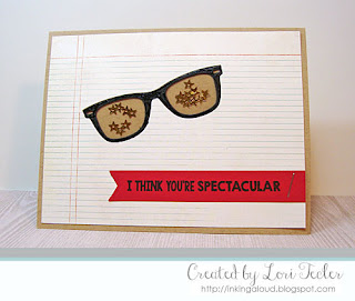 I Think You're Spectacular card-designed by Lori Tecler/Inking Aloud-stamps and dies from My Favorite Things