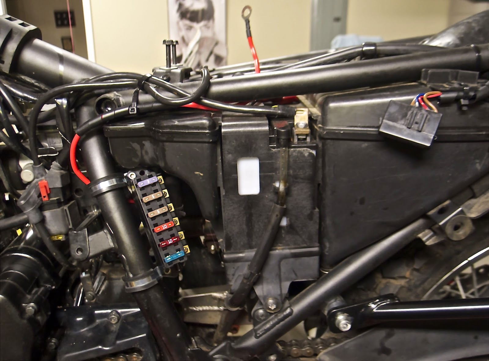 hight resolution of also wanted to located it somewhere where i could easily access it to check and replace fuses without having to disassemble half the bike to reach it