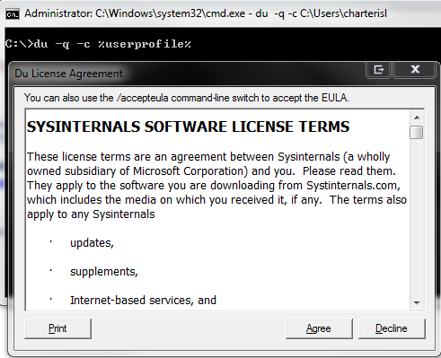Clint Boessen's Blog: Scripting with Sysinternals tools - Removing