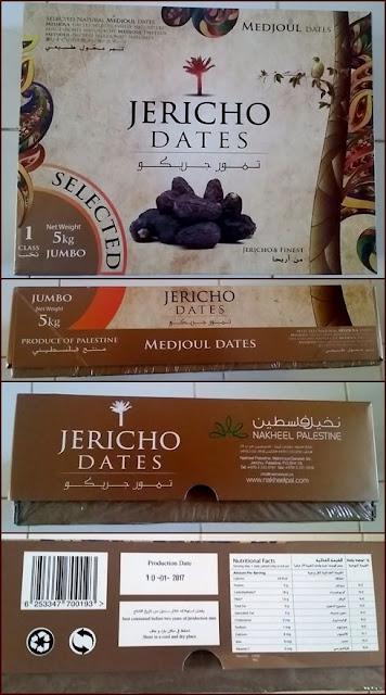 kotak kemasan paket kurma medjool palestine jumbo 5 kg