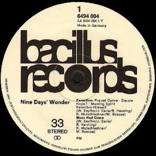 bacillus records nine day's wonder