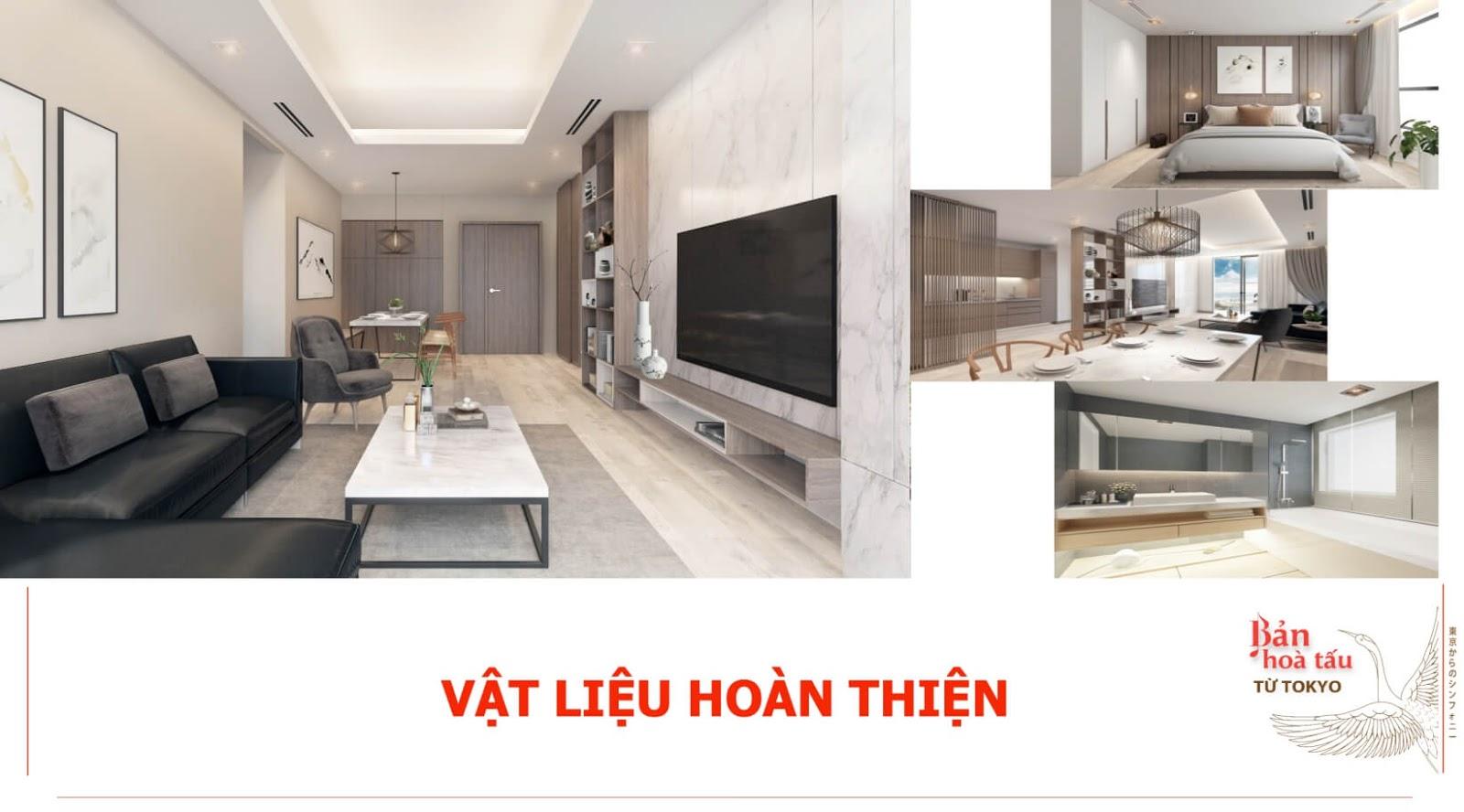 Vật liệu hoàn thiện của dự án Hinode City 201 Minh Khai