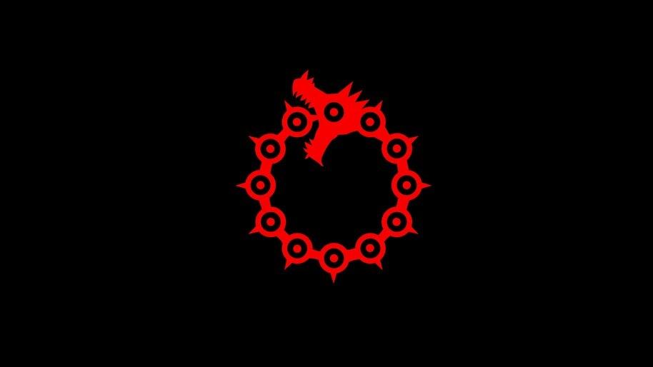 Nanatsu no Taizai, Dragon Sin of Wrath, Logo, 4K, #4.1236