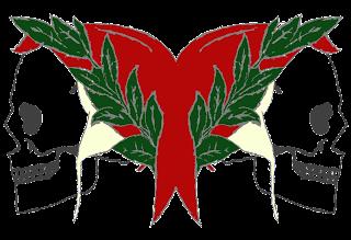 Il logo del mio blog, con Dante di Piero della Francesca stilizzato e unito in un Giano Bifronte a simboleggiare il doppio negativo.