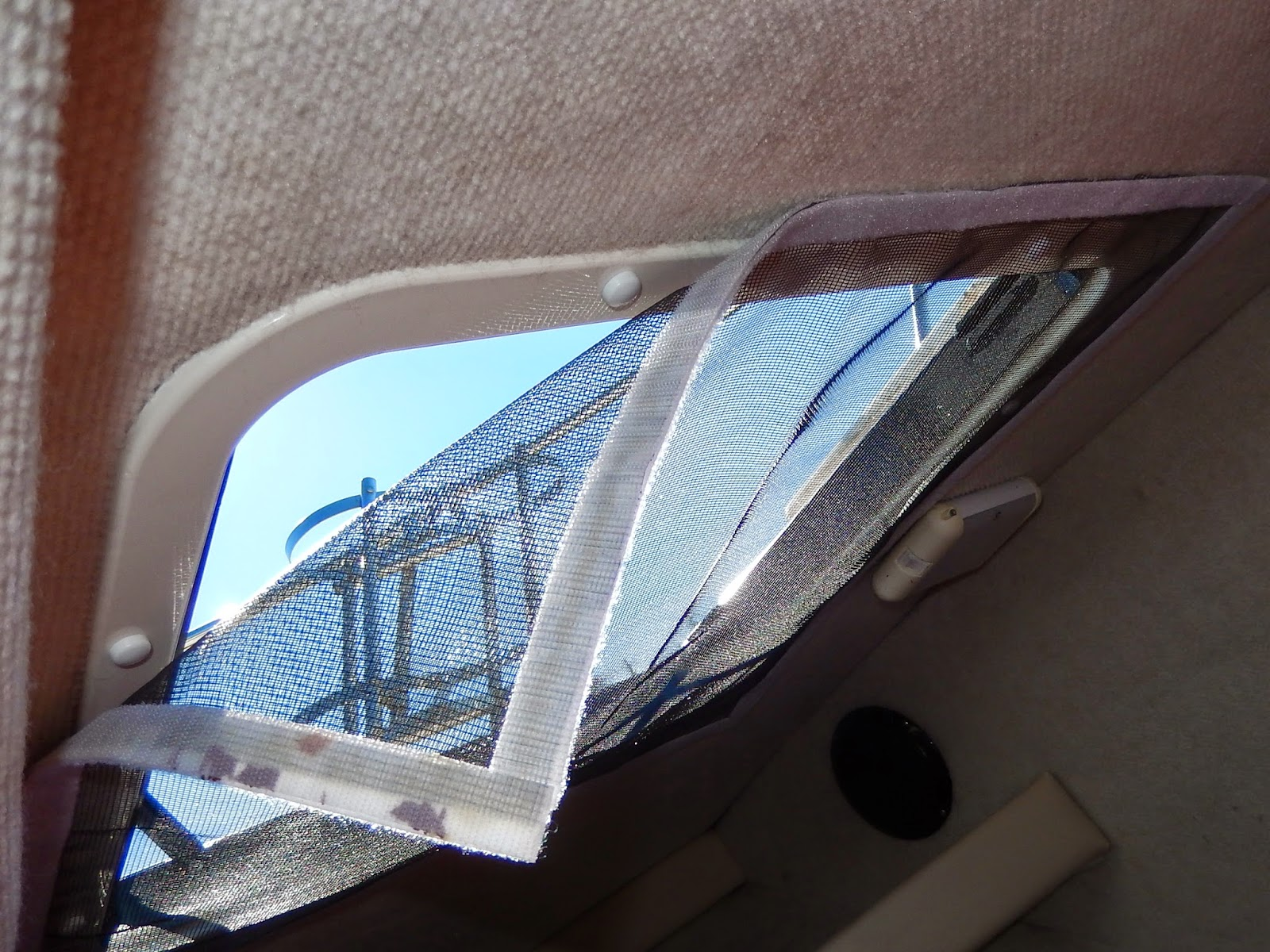 Powell River Books Blog: Boat Hatch Mosquito Screen