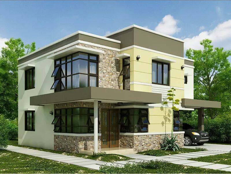 Two floor houses with 3rd floor serving as a roof deck for 3 story house plans with roof deck