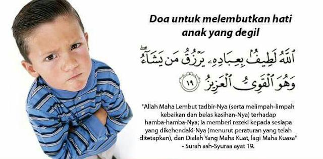 Ibu Bapa Jangan Kecewa Dengan Anak Tak Dengar Cakap. Inilah Doa Untuk Melembutkan Hati Anak Yang Degil. Mohon Kongsikan..