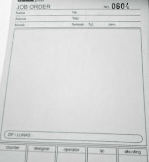 cetak faktur atau bon