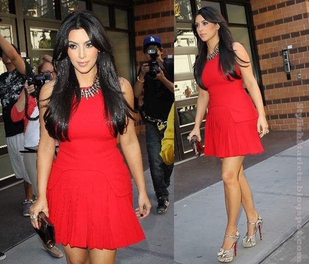 Kim Kardashian in Alexander McQueen - Stylish Starlets