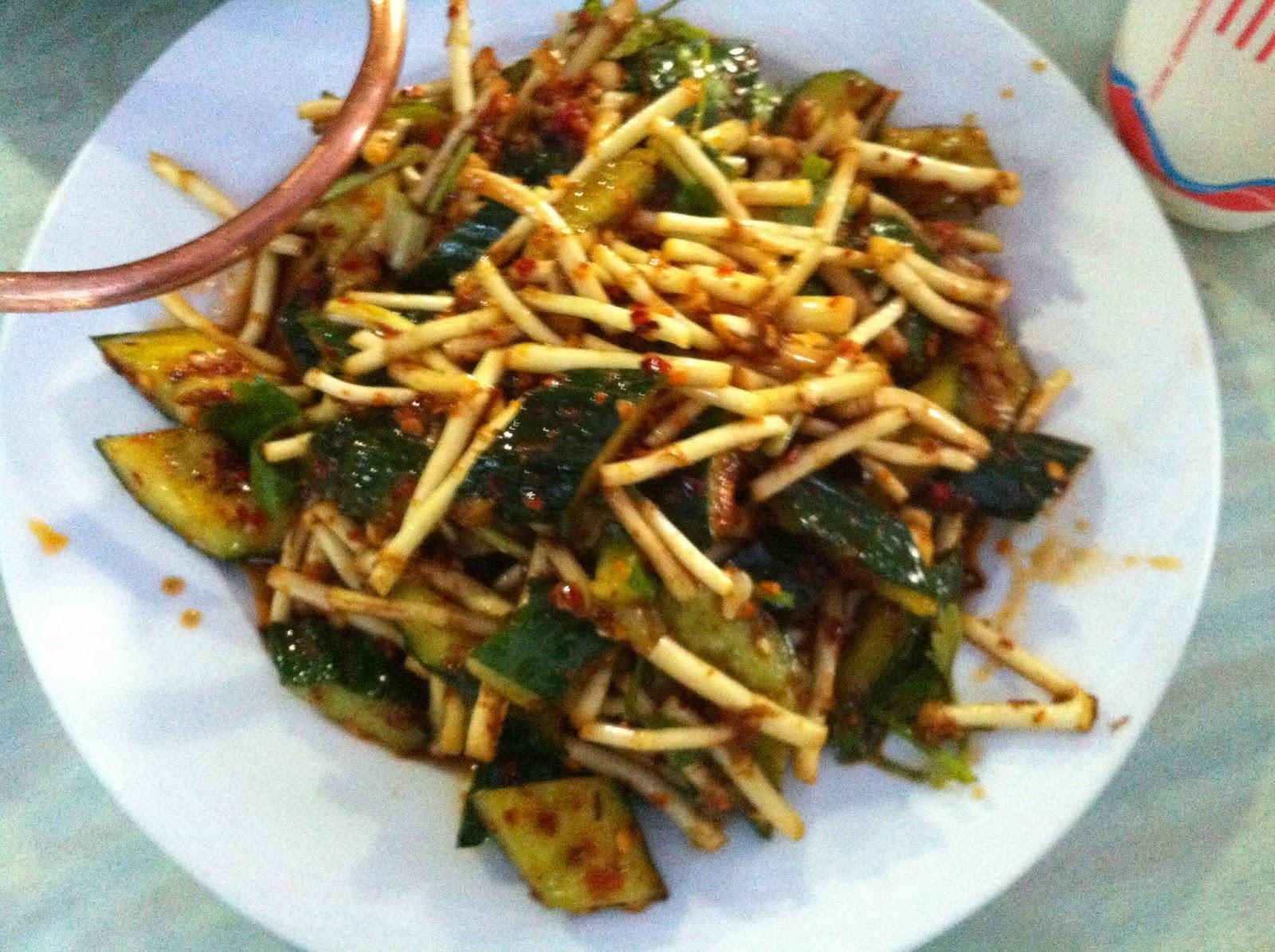 Yu Xing Cai - a delicious Yunnan specialty
