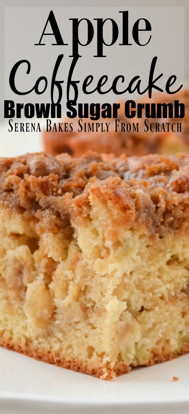 Apple Coffeecake with Brown Sugar Crumb Swirl