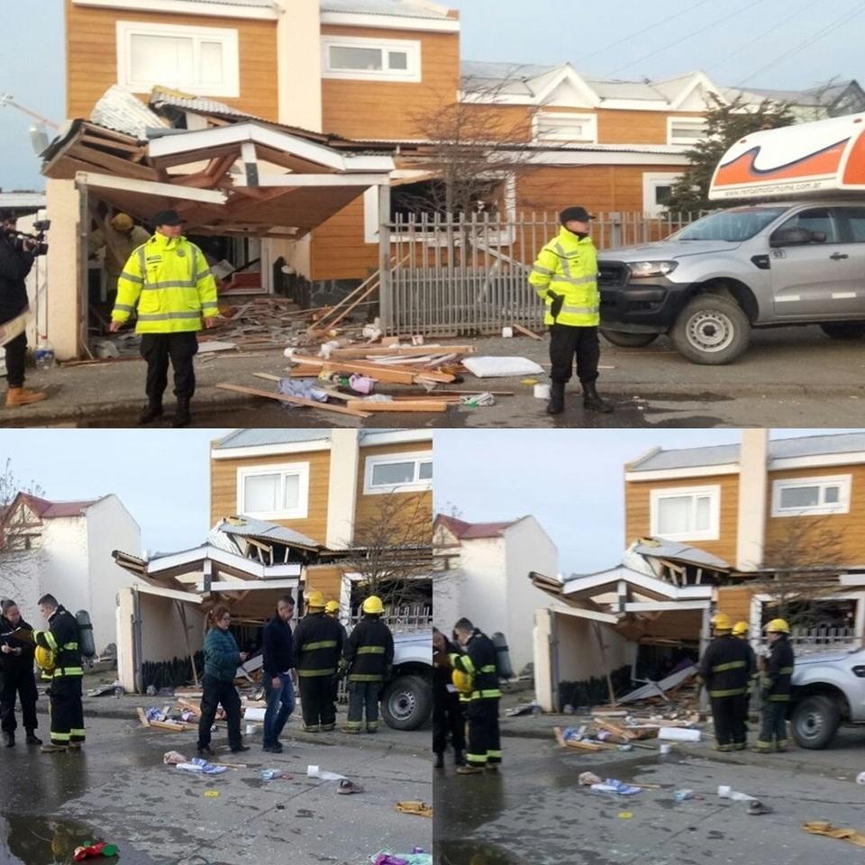 Explosion en una vivienda